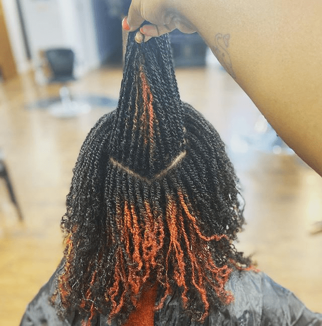 micro two strand twist on 4c hair