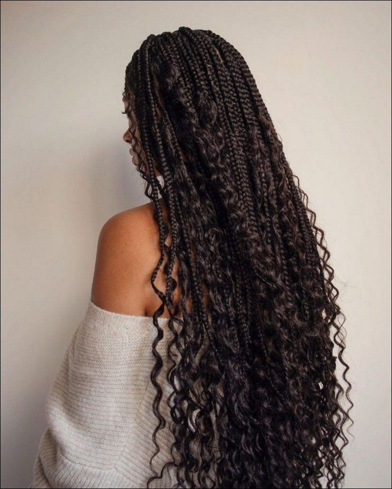 box braids with curls