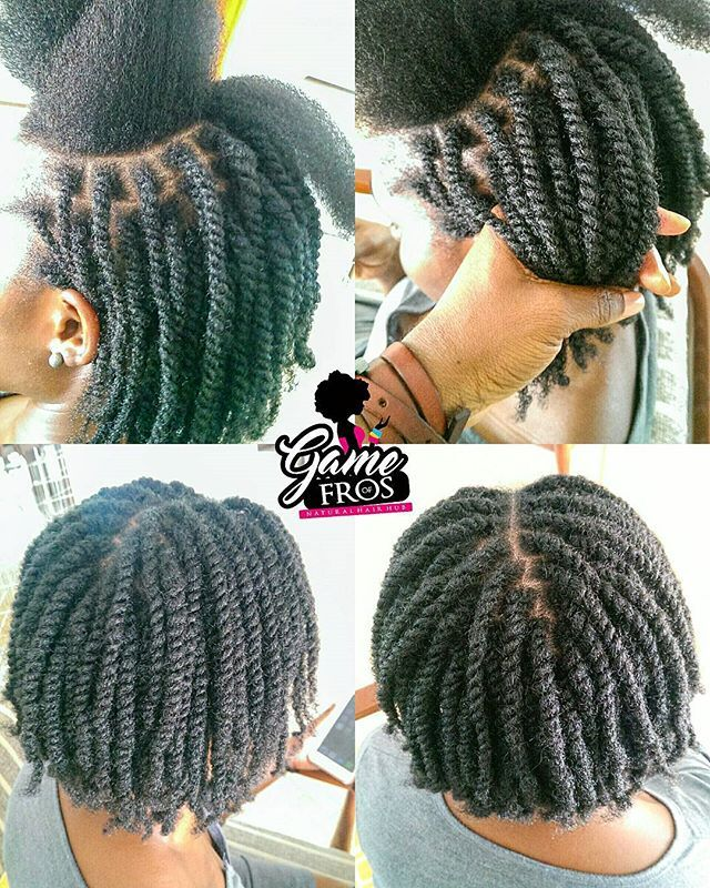two strand twist on dry hair