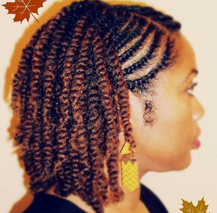 Two strand twist on 3b hair