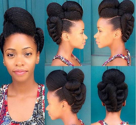 40 Elegant Natural Hair Updos For Black Women Coils And Glory
