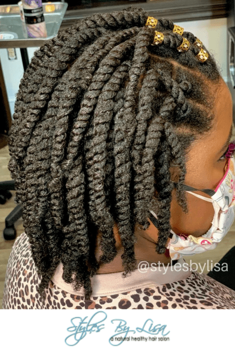 two strand twist long hair