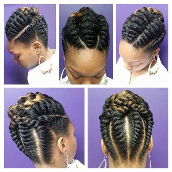 elegant flat twists on 4b hair