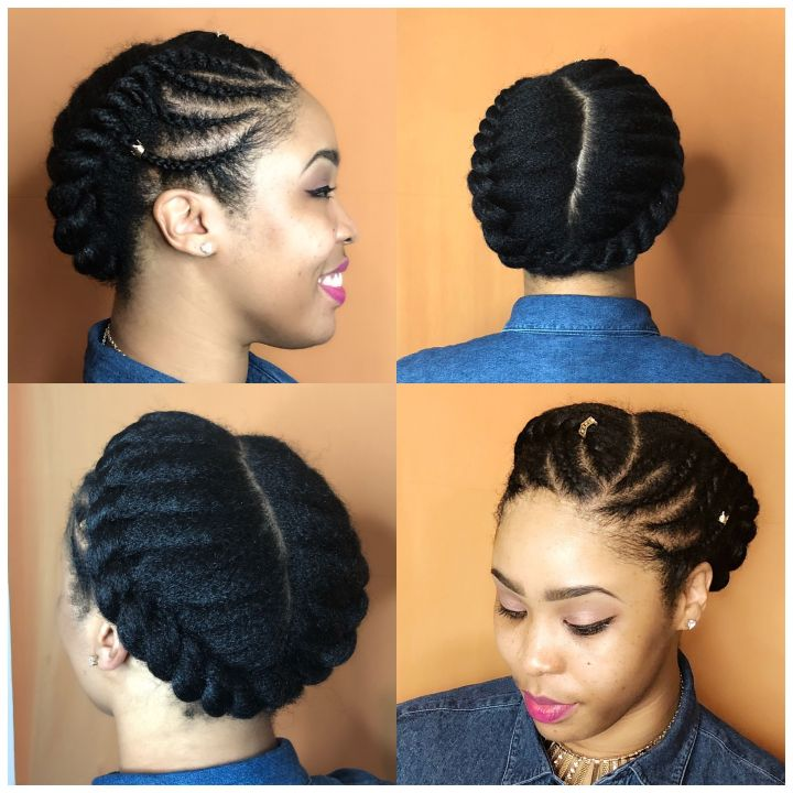 flat twists hairstyles on 4c hair
