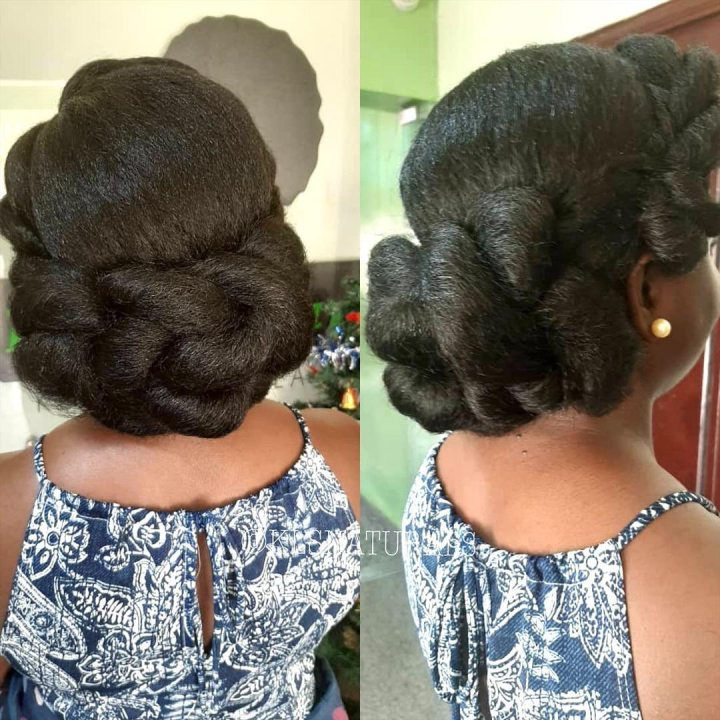 natural hair updo for weddings