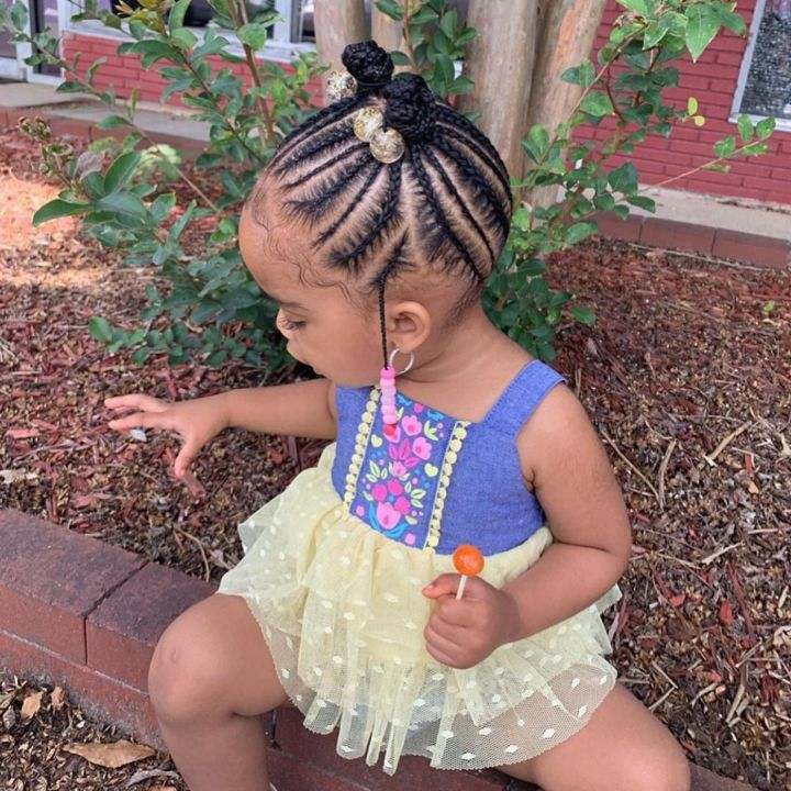 black kids braided hairstyles with beads