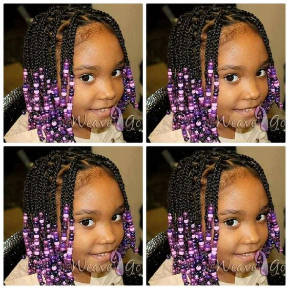 box braids with real hair with beads