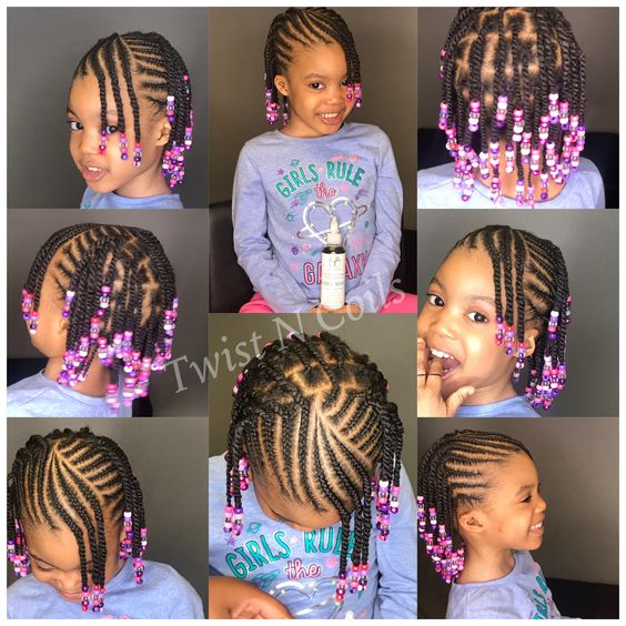 hairstyles with beads for little girl
