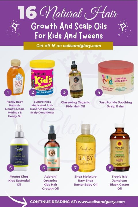 NATURAL HAIR GROWTH OILS FOR KIDS AND TWEEN
