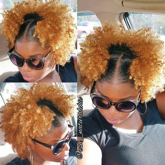 double mini afro puffs