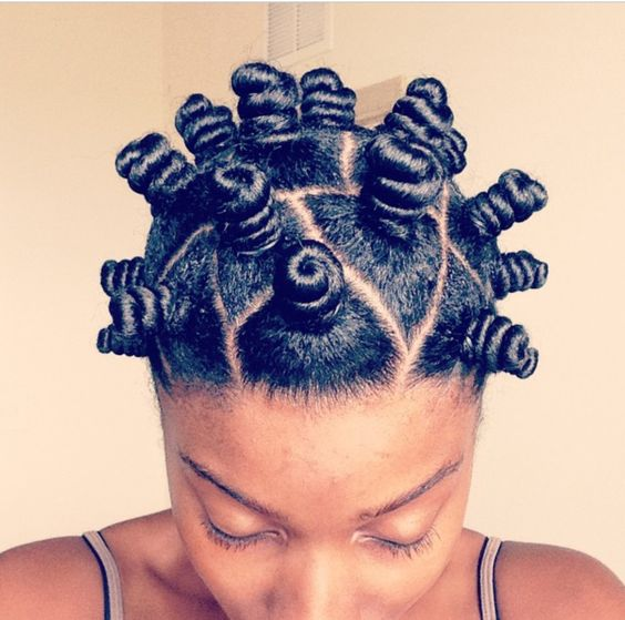 how to do bantu knots on short hair