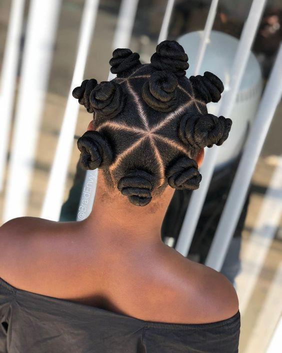 Chunky bantu knots in triangle parts