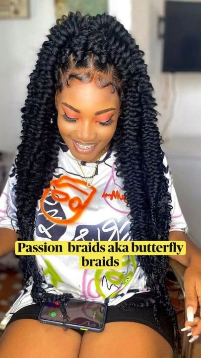 butterfly braids with defined edges