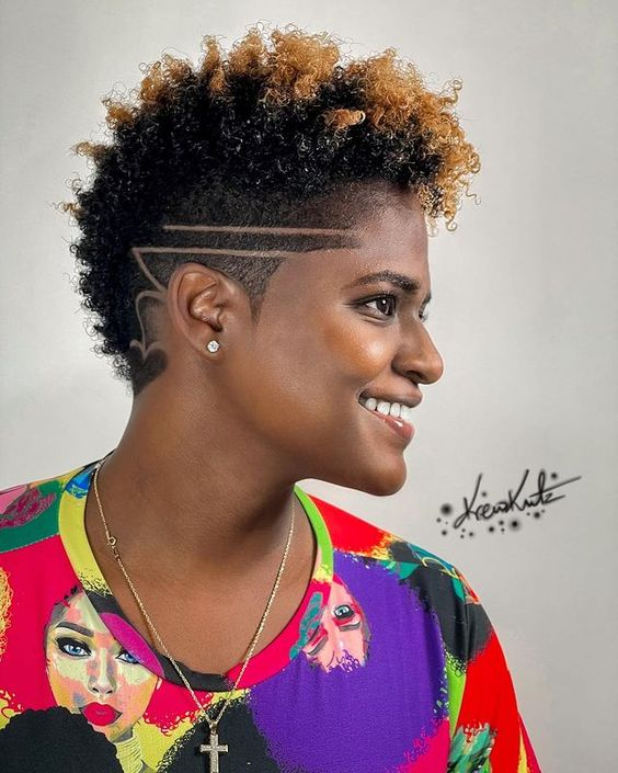 short natural hairstyles on black women