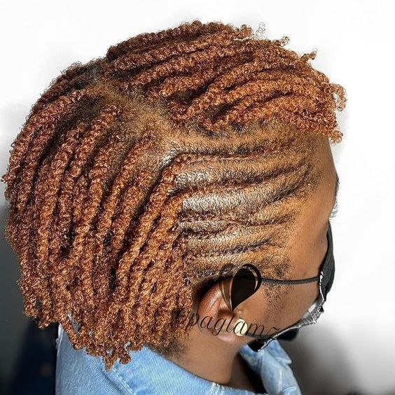 flat twists and two strand twists on 4c hair