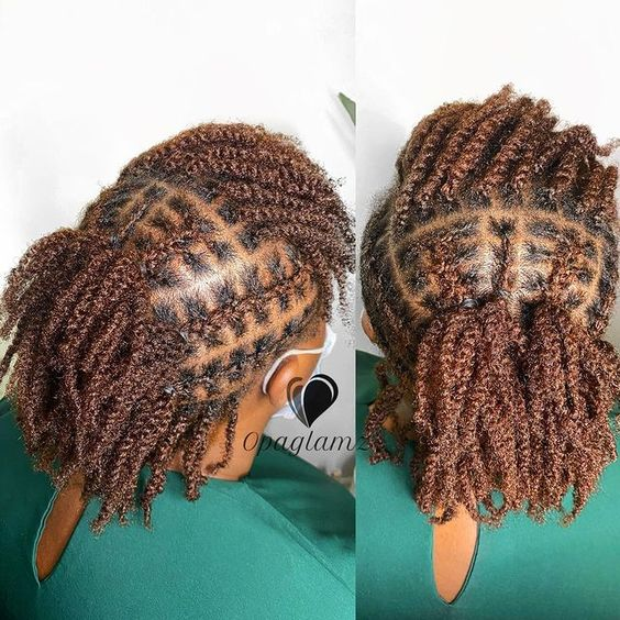 two strand twists on short 4c hair