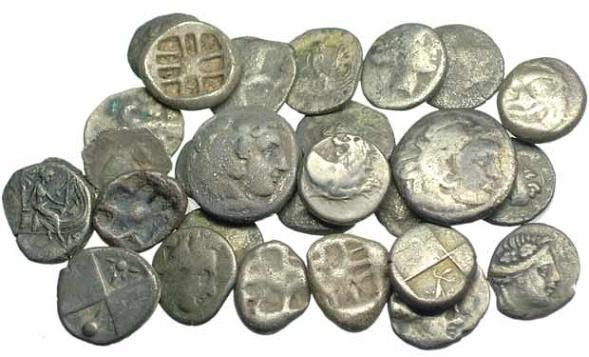 Image result for Ancient Greek money