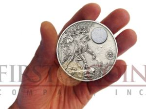 Palau Werewolf 2oz coin New series Mythical Creatures ...