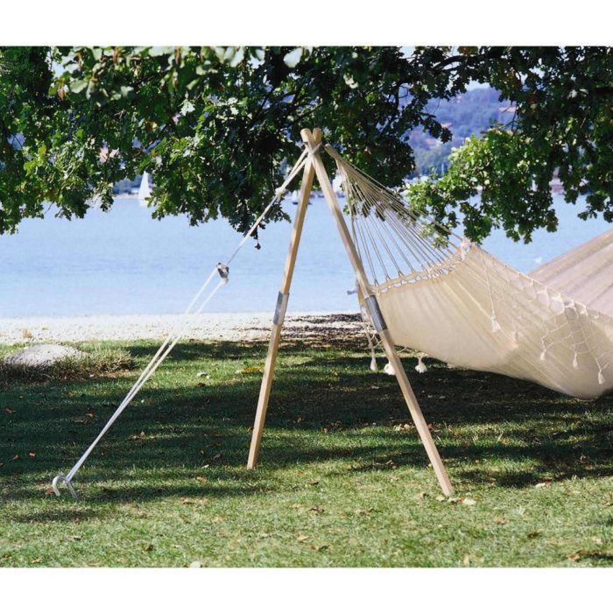 amazonas support hamac en bois madera achat vente hamac avec support pas cher coindujardin com