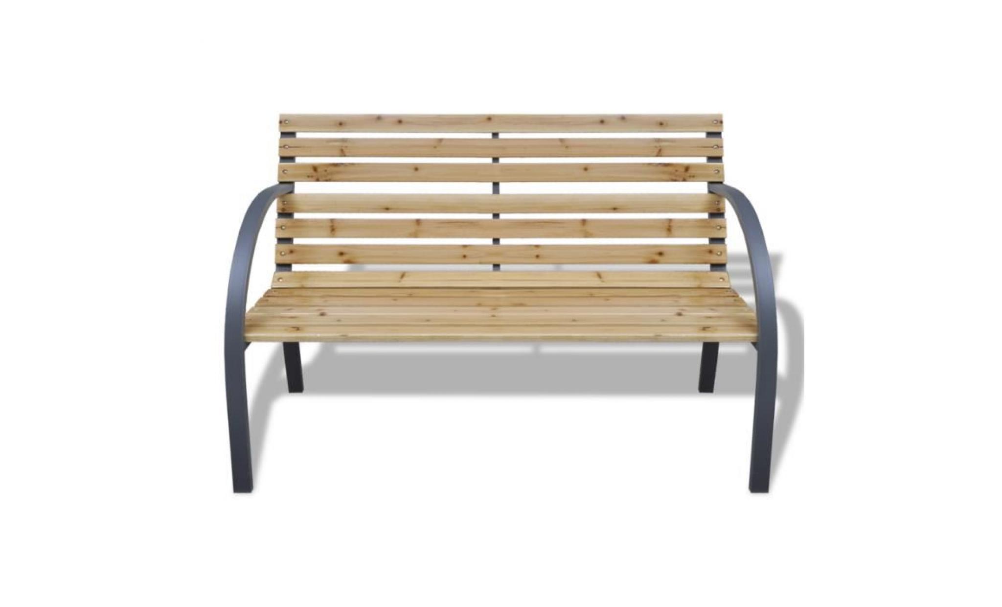 banc de jardin armature en metal et lattes en bois achat vente banc de jardin en bois pas cher coindujardin com
