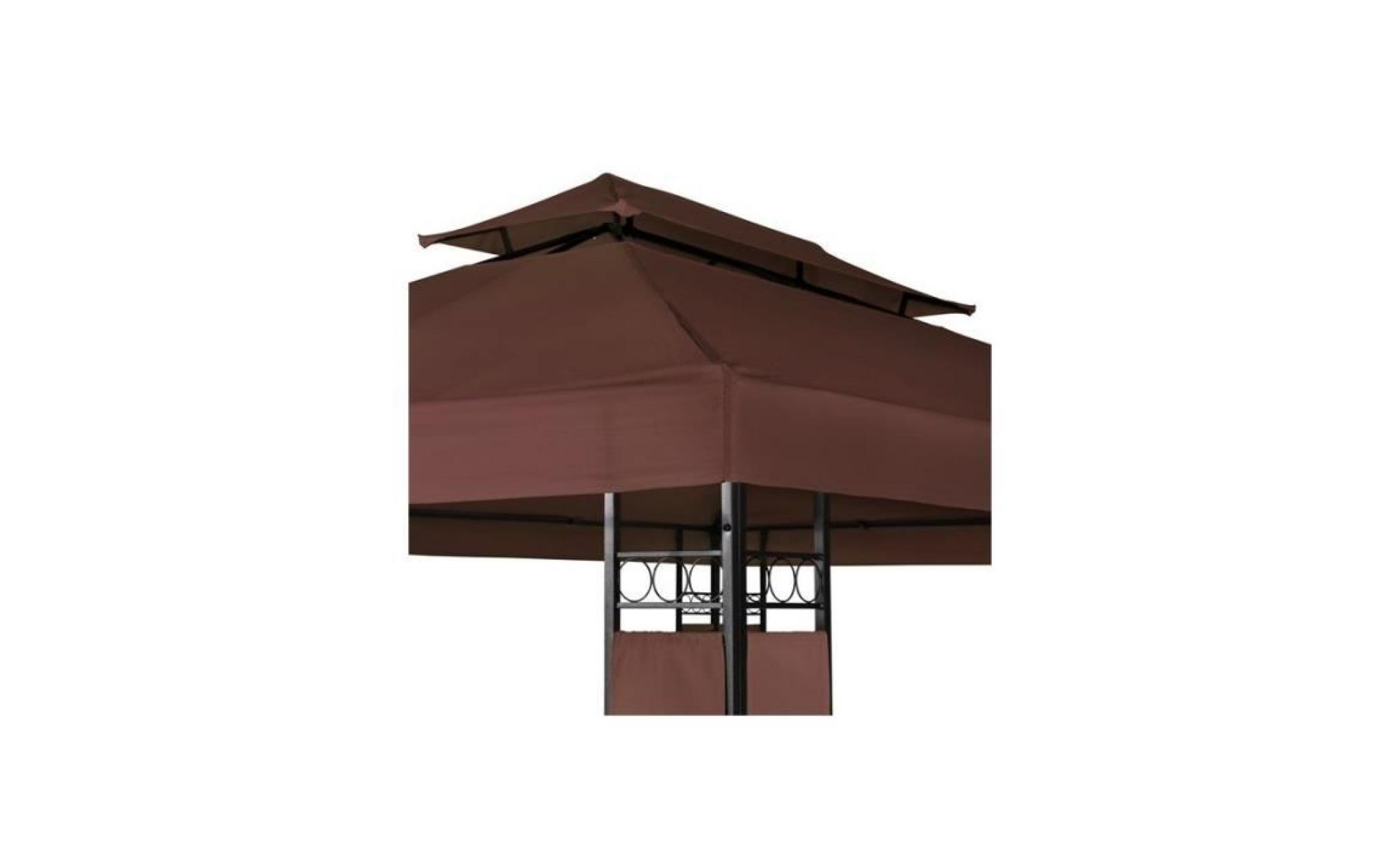 tonnelle de jardin pavillon barnum metal 4x3 marron 2201012 achat vente balancelle de jardin pas cher coindujardin com