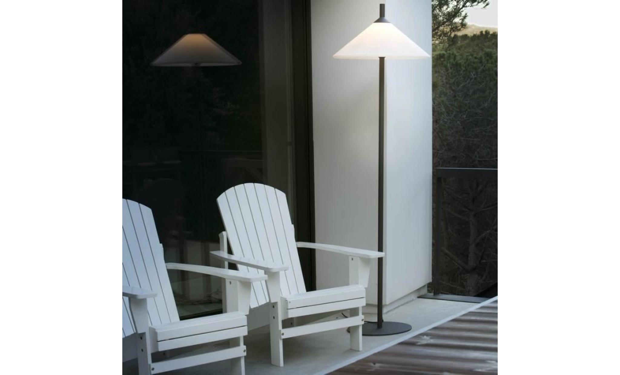 lampadaire exterieur design hue d58 cm ip65 blanc 0 000000 achat vente lampadaire jardin pas cher coindujardin com