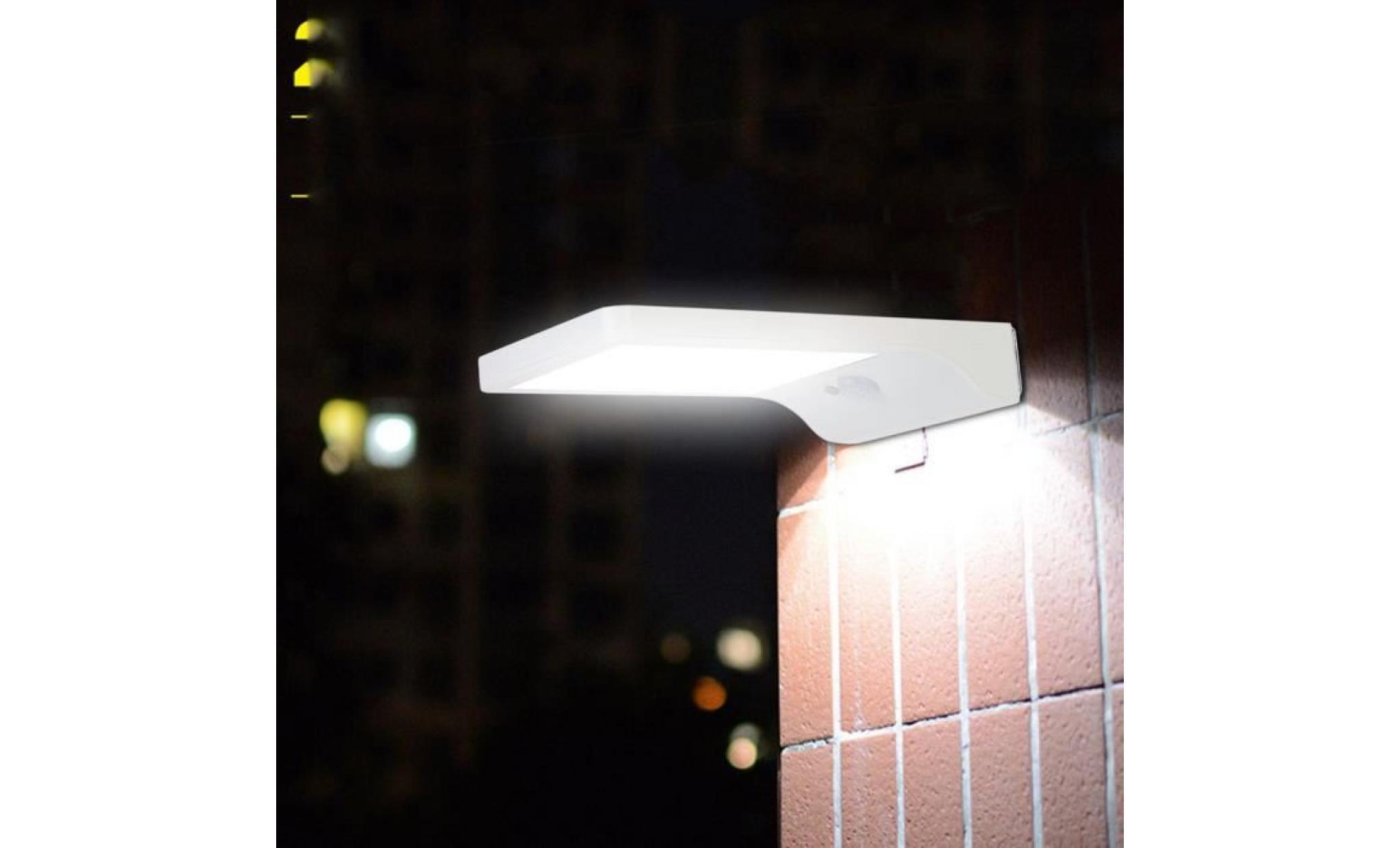 lampe de jardin 36 leds super brillant energie solaire applique murale achat vente lampadaire jardin pas cher coindujardin com