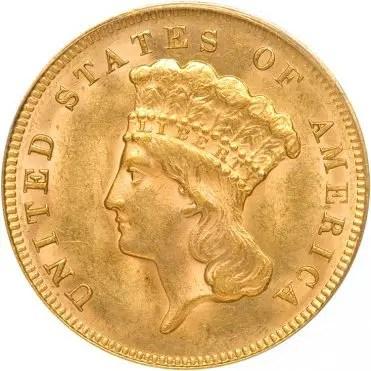 $3 Indian Princess - 1854-1889