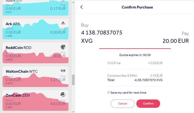 Buy VERGE online using a credit card