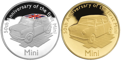 2009 mini 50th anniversary proof coins
