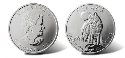 2011 Canadian Silver Wolf Bullion Coin Launches Coin News