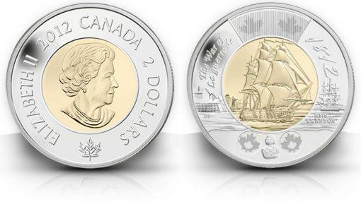 2012 $2 HMS Shannon Commemorative Coin