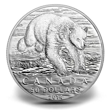 Canadian 2014 50 Polar Bear Silver Coin For 50 Coin News