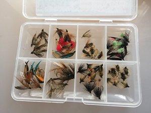 50mouches de pêche Plus Humide Sélection Fly Sélection truite Plus de 50mouches en boîte # 9