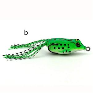 Roblue Appâts pour Pêche Appâts Bioniques Grenouille à Double Crochet en Plastique 5.5cm/8g
