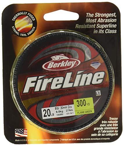 Berkley Fireline Crystal Fusionné Superline, Mixte, Flame Green