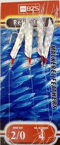 bzs Lot de 10mitraillettes d'hameçons pour pêche au maquereau Argenté