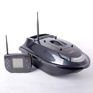 CARP DESIGN Bateau Amorceur Carpe Wave S, Batterie Lithium, portée 400m, autonomie 1h30, capacité 1kg, largage précis, gabarit réduit, éclairage Avant et arrière, télécommande Digitale.