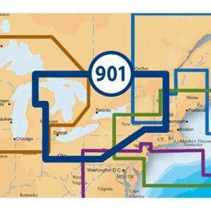 Navionics Platinum + SD 901East des Grands Lacs Nautical Chart sur Carte SD/Micro-SD–MSD/901p +