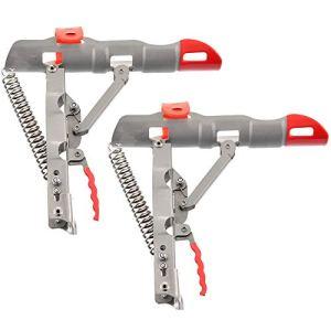 Roblue Support de Canne à Pêche Pliable Levage Automatique en Acier Inoxydable 52.5cm