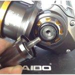 zcc/haibo Guépard série anti-corrosion CT80006+ 1BB–4.9: 1pliable Spinning pêche bobine en aluminium Poignée en alliage d'aluminium