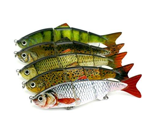 WDDDYYE Pêche Appât/Leurres de peche/50 Pcs 8 Sections Jointé Minnow 14.5 Cm 28G Leurre De Pêche Appât Artificielle Leurre Dur Pêche S'Attaquer À La Réalité