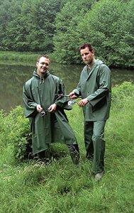 Nick and Ben Combinaison de Pluie en PVC Vert Olive Taille L