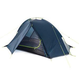 HAIMEI-WU Moulinet de pêche Bleu/Vert New Ultra Light Simple Double Double Addition Vent et la Pluie Risqué Camping Tente Double Compte (Couleur : Blue)