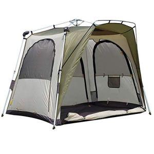 HAIMEI-WU Moulinet de pêche Vert Tente de pêche Automatique en Plein air Double à Deux Volets Coupe-Vent Rainstorm Crazy Fishing Nuit Tente de pêche Grand Espace
