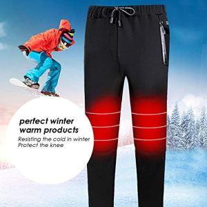 liuxi Pantalon Chauffant Thermostat Intelligent USB, Pantalon épaississant, Pantalon Chaud électrique, Velours de Coton, Lavable, pour Hommes et Femmes en Plein air, Cadeau d'hiver, Taille Attractive