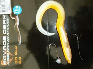 Savage Gear 50383 Albino Œil Authentique 15 cm + jig+Stinger