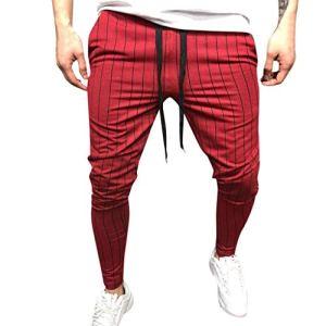 LILICAT❤Pantalons Homme Pantalon Rayé Pantalon Carreaux Homme Slim Pantalon Classique Homme A Rayure Pantalon Vintage Homme Taille Haute Pantalon Lacets Pantalons DéContractéS,Pantalon À Rayures Homme