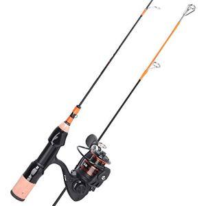 LOVEPET Set De Pêche sur Glace Carbone Canne À Pêche 8 + 1 Rouet De Pêche sur Glace Pêche en Plein Air