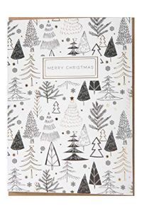 Mountain Warehouse Merry Christmas Trees Card Blanc Taille Unique